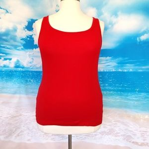 Faded Glory Tops - ❤️2/$25 NWOT Faded Glory Red Tank Top XXL